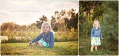 family session outside at sunset, with a beautiful little girl!