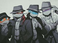 grrinday:  Suits from TMNT2003 ep11? Tried in style of TMNT2012