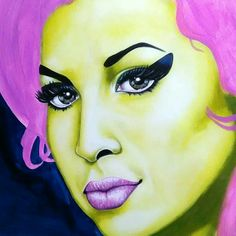 Artwork in Progress | Amy Winehouse | Pop Art Portrait