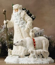 Arctic Santa and Friends - Extra Large - limited edition | Santa Claus Figurines and Hand Carved Wooden Santas