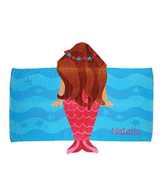 Another great find on #zulily! Mermaid Personalized Hooded Towel #zulilyfinds