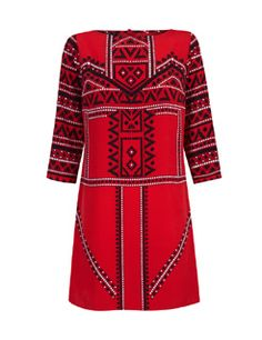 Ethnic print tunic dress