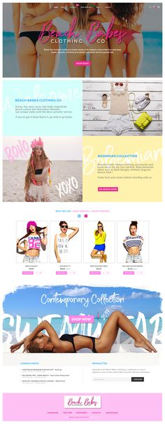 A modern beach clothing company eCommerce website landing page design.  Funky, fun, sexy, sassy, hot looks inspired by   beach culture and alternative lifestyles.  If you've got it betta flaunt it, go wild or go home.    #babes #beach  #bikini  #boho  #clothing #flat  #minimal #sexy  #ui  #ux  #website  #woman    #bradleylancaster    http://bradleylancaster.com/