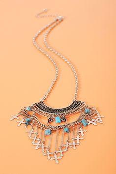 Turquoise #Cross #Necklace #fashion #FashionCherry