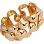 Of late, I'm wearing more and more gold. It pairs beautifully with pop colours and elevates classic black, white, navy, brown and grey. Here, Marni bracelet, $695