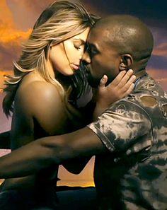 "Kanye West's ""Bound 2"" Video: Kim Kardashian Goes Topless, Straddles Him on Motorcycle"