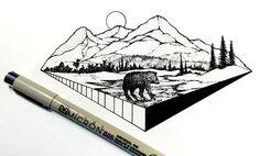 erek Myers, ilustrador y diseñador que diariamente crea ilustraciones en formato pequeño pero con gran tinta