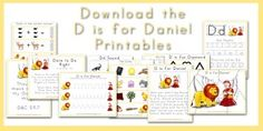 Walk Beside Me LDS Preschool. A free LDS-based letter of the week curriculum. D is for Daniel