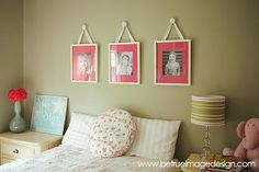 photo wall for kids' rooms