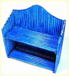 Eu Amo Artesanato: Mini-estante com canudos de jornal