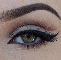 eyebrows, eyeliner, girls, hazel eyes, make up, makeup, perfection, smokey eye, eyebrows on fleek