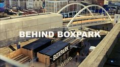 Behind Boxpark. BOXPARK Shoreditch is a retail revolution – the world's first pop-up mall. Based in the heart of East London, for the next f. Helsingor, Box Park, Urban Bar, Portugal, Shipping Container Homes, Shipping Containers, Container Architecture, Magic Realism, Retail Store Design
