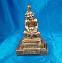Gobbo God of Good Luck Striker Lighter  Ronson Art Metal Works 1920's