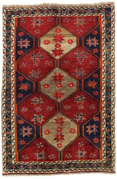Gabbeh - Bakhtiari Persian Carpet 196x132