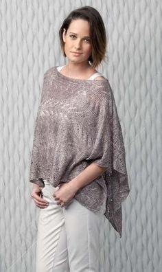 Gratis patroon : Poncho in Katia Air Lux (patroon 0354)