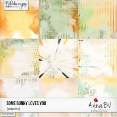 Some Bunny Loves You papers by Anna BV Designs