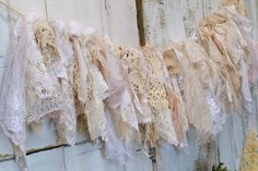 Shabby chic lace garland❤