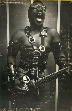 Bo Diddley, presumably from his BDSM period :D