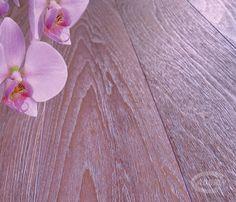 Teak Burma / Wooden floors - Brushed White Gold Dust and Lilac Mother of Pearl with Swarovsky insert / Pavimenti in legno - Spazzolato Polvere Oro Bianco e Madreperla con inserti Swarovsky
