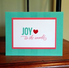 Joy to the world stamped card