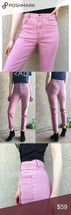 "VTG JORDACHE Dusty Rose High-Waisted Mom Jeans Dusty Rose/ Bubblegum pink vintage 1990's high-waisted high-rise mom jeans by Jordache. Excellent Condition. VTG Size 8 Fits like a modern 26, 2/4. 🚨PLEASE refer to measurements for ultimate sizing!!! For reference, I'm 5'9. Waist: 13"" flat, Length: 40"", Inseam: 30"", Rise: 11.75"". ✨OFFERS WELCOME✨ Jordache Jeans Straight Leg"