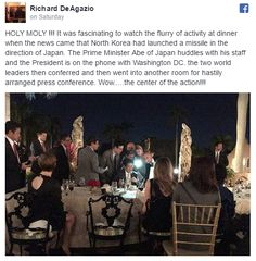 Members of President Trump's Mar-a-Lago golf resort in Palm Beach, Florida got firsthand access to classified national security information Saturday night.