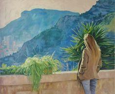 """Andreas Vanpoucke """" Veronica """" Oil on canvas 1.00 m x 1.20 m"""