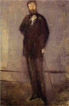 Study for the Portrait of F. R. Leyland  - James McNeill Whistler