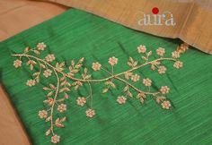 Call or whatsapp on to buy/order this Zardosi Embroidery, Hand Embroidery Dress, Kurti Embroidery Design, Embroidery Works, Simple Embroidery, Gold Embroidery, Flower Embroidery, Embroidery Ideas, Kurtha Designs