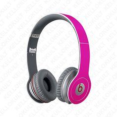 Beats+Solo+Hot+Pink+Full+Headphone+Wrap+Headphones+by+kellokult,+$20.00
