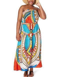Turquoise Exotic Maxi Dress
