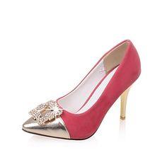 Women's Shoes Fleece Summer/Pointed Toe Heels Office & Career/Casual  Stiletto Heel Sparkling Glitter Black/Purple/Red