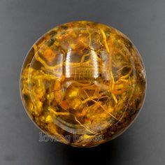 2 stücke 48mm Synthetische Bernstein Echt Scorpion Edelsteinen Runden Ball Crystal Healing Kugel Massage Rock Steine Decor Schmuck(China (Mainland))