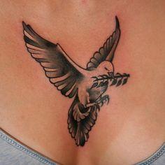 Traditional Dove Tattooed By Brandon Notch... (Sacred Saint)