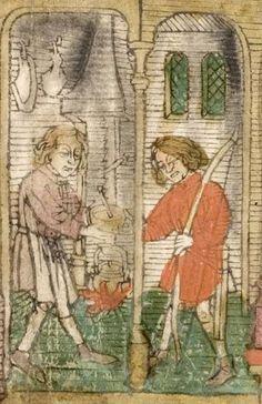 Biblia pauperum ; Apokalypse ; Bilder-Ars-moriendi (Blockbücher) — Mittelrhein/Südwestdeutschland,  Ende 15. Jh Cod. Pal. germ. 34 Folio 9r
