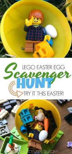 Are you looking to start a new Easter Tradition this year? Then try this LEGO Easter Egg Hunt Idea - it's perfect for lego loving kids!  #easter #eastereggs  #scavengerhunt