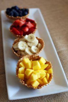 New fruit bar party 62 ideas Fruit Salad Ideas Parties, Fruit Party, Waffle Bowl, Waffle Cones, Waffle Cone Recipe, Best Breakfast Bars, Frozen Yogurt Bar, Brunch Bar, Brunch Ideas