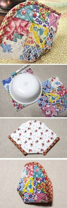 Patchwork Accessory Bag Case. Tutorial DIY in Pictures.  http://www.handmadiya.com/2015/11/idea-to-sew-cosmetic-bag-patchwork.html