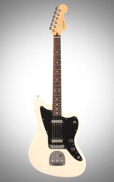 Fender Standard Jazzmaster HH Electric Guitar, with Rosewood Fingerboard, Olympic White Electric Guitar Kits, Cool Electric Guitars, Fender Guitars, Drums, Searching, Top, Bass Guitars, Guitars, Search