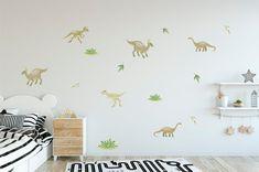 Dinosaur Wall Decals, Kids Wall Decals, Polka Dot Walls, Custom Decals, Having A Baby, Kids Room, Nursery, Awesome, Fabric