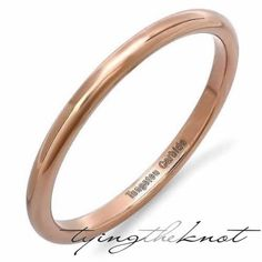 Tungsten Carbide High Polish Rose Gold by TyingTheKnotbyClaude