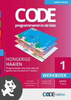 Yup, Hongerige Haaien. Het eerste lesboekje - programmeren met je klas op de basisschool. Deze les is voor groep 7 en 8! Maak een haai-eet-vis spel met Scratch. Computational Thinking, Coding For Kids, 21st Century Skills, Internet, Game Design, Einstein, Classroom, Teacher, Social Media