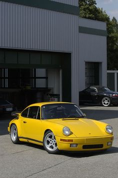 """Ruf CTR Yellowbird. The car received its nickname, """"Yellowbird"""", during testing byRoad & Trackmagazine, whose staffers noted the contrast created by its yellow paintwork against the overcast skies on the day of their photo shoot."""