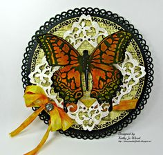 I'm a Little Teapot...: Monarch Butterfly wall hanging #graphic45 #oldecuriosityshoppe
