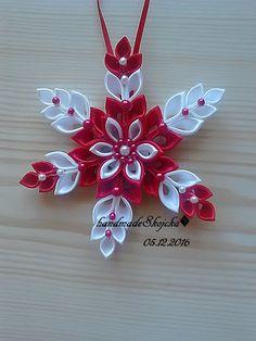 Vianočná hviezdička - červeno_biela