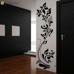 Florel by shital Glass Painting Designs, Wall Art Designs, Wall Design, Glass Film Design, Window Glass Design, Simple Wall Paintings, Wall Painting Decor, Door Gate Design, Room Door Design
