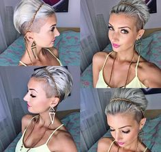 Hair Beauty - All sizes Pixie Hairstyles, Pretty Hairstyles, Pixie Haircut, Pixie Updo, Haircut And Color, Hair Affair, Shaved Hair, Great Hair, Hair Today