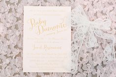 Baby Damante Shower Invitation  #PaperieBaby for Cheeky Details - Mekina Saylor Photography