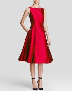 Adrianna Papell Petites Sleeveless Tea-Length Dress | Bloomingdale's