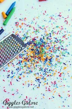 Wax Paper Melted Crayon Art